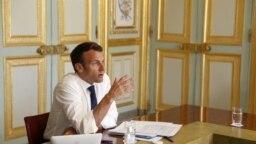 На фото: президент Франції Емманюель Макрон