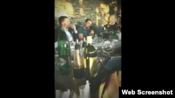 Proslava rođendana doktora Jusufa Šabanovića u restoranu Golf Klub, Sarajevo.