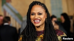 "Director and executive producer Ava DuVernay poses at a screening of the film ""Selma"" during AFI Fest 2014 in Hollywood, California, Nov. 11, 2014."