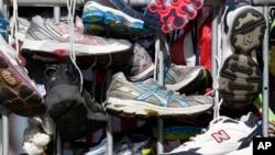 На финише марафона 27 апреля 2013 г.