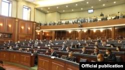 Nga një mbledhjet e mëhershme e parlamentit të Kosovës