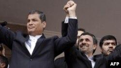 El presidente Correa recibió a principios de año a su colega iraní Mahmoud Ahmadinejad y se consolida como un aliado de Irán.