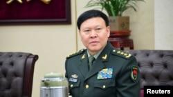 2014年1月13日,中國軍隊總政治部主任張陽在北京出席會議資料照。