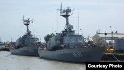 Tàu của lực lượng hải quân Việt Nam.