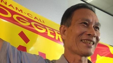 Blogger Điếu Cày Nguyễn Văn Hải tới Hoa Kỳ vào ngày 21/10/2014. (lytrianh facebook).