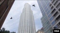 密西西比河以西最高的建築:美利堅銀行高塔(美國之音國符拍攝)