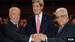 دیدار کری با سران اسرائیل و فلسطین
