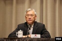 台湾陆委会主委夏立言(美国之音杨明拍摄)