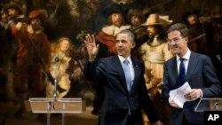 باراک اوباما رئیس جمهوری آمریکا و مارک روته، نخست وزیر هلند