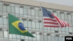 US, Brazil flags