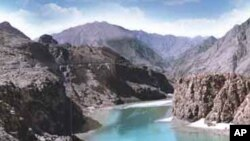 Proposed site of the Diamer-Bhasha Dam in Northern Pakistan.
