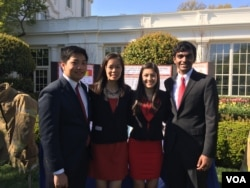 参加白宫科技展的美国学生 (美国之音莉雅)