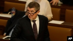 Czech Republic's Prime Minister Andrej Babis attends a parliament session in Prague, Czech Republic, Jan. 19, 2018.