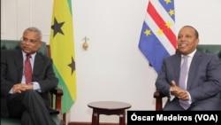 José Maria Neves e Patrice Trovoada, primeiros-ministros de Cabo Verde e São Tomé e Príncipe