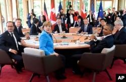 世界工業化七國首腦會議星期天在德國巴伐利亞阿爾卑斯山召開.
