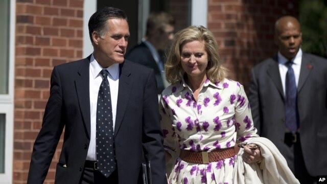 Dan takarar shugabancin Amurka na jam'iyyar Republican Mitt Romney da uwargidansa Ann Romney.