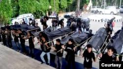 Aktivis lingkungan menggelar aksi memperingati para korban meninggal akibat lubang tambang. (Sumber: Jatam Kaltim)