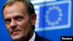 Presiden baru Dewan Eropa, PM Polandia Donald Tusk mengecam tindakan Rusia di Ukraina timur (foto: dolk).