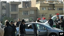 A Fars News Agency photo claimed to show one of the damaged cars following bomb attacks on the vehicles of two nuclear scientists in Tehran, 29 Nov 2010