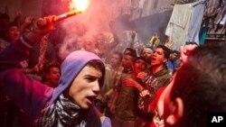 Aksi protes oleh kelompok Ikhwanul Muslimin April lalu (foto: dok).