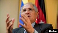 El alcalde de Caracas, Antonio Ledezma, fue detenido el 19 de febrero.
