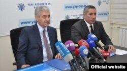 Yeni Azərbaycan Partiyası sədrinin müavini-icra katibi Əli Əhmədov və icra katibinin müavini Siyavuş Novruzov