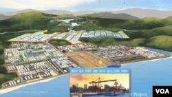 緬甸和泰國計劃在緬甸南部沿海地區建造一個深水碼頭和東南亞最大的工業園。(網絡截圖)