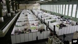 Тимчасове приміщення для мігрантів у Берліні