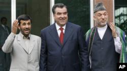 Eron, Tojikiston va Afg'oniston prezidentilari Dushanbeda, 26-mart, 2012-yil