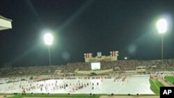 Official opening ceremony of the Arabian Gulf 20 football tournament at the 22 May Stadium in Aden, 22 Nov 2010