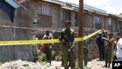 警方在爆炸現場調查