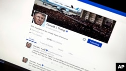 Tviter stranica predsednika Trampa (arhivski snimak)