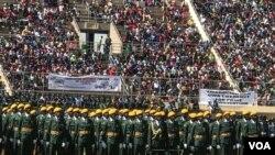 Umbuthano wokunanza ilanga labezomvikela eleDefence Forces Day, eHarare