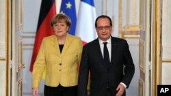 Serokê Fransa Francois Hollande û Serokwezîra Almanya îro Înê li Parîsê bûn