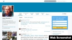 A screenshot of Jason Rezaian's Twitter page.