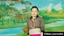 Tamding Tso, a Tibetan mother activists say self-immolated in Rebkong, China, Nov. 7, 2012.
