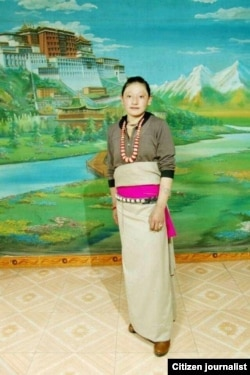 Tamding Tso, a Tibetan mother activists say self-immolated in Rebkong, China on November 7, 2012.