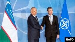 Prezident Islom Karimov NATO Bosh kotibi Anders Rasmussen bilan, Bryussel, 2011-yil