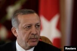 FILE - Turkish President Recep Tayyip Erdogan is said to be cracking down on news media critical of his government.