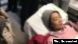 教育平权活动人士在北京被打心脏病发作而送医 (网络截图)