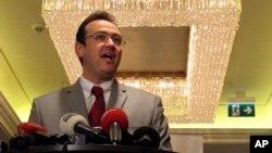 敘利亞國家聯盟發言人薩勒赫(資料圖片)