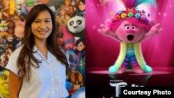 Yorie Kumalasari, seniman efek untuk film Trolls 2 (dok: pribadi/DreamWorks Animation/Universal Pictures)