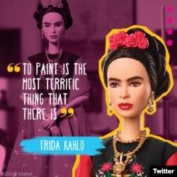 Barbie de Frida Kahlo. Foto: @Barbie