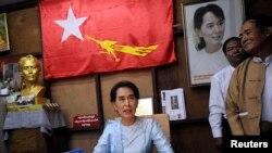 缅甸民主派领袖昂山素季(2013年资料照)