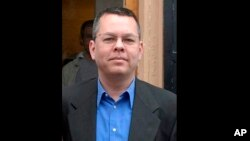 FILE - In this undated file photo, Andrew Brunson, an American pastor, stands in Izmir, Turkey. The trial of an American pastor imprisoned in Turkey, whose case is part of a quagmire of tense relations between Washington and Ankara, began Monday.