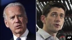 Wapres AS Joe Biden (kiri) dan Cawapres Partai Republik, Paul Ryan saling melontarkan kecaman dalam kampanye mereka (foto: dok).