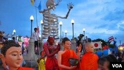 泰國與中日兩國的關係都不錯(美國之音朱諾2017年7月22日攝)