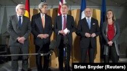Amerika Dışişleri Bakanı John Kerry, Lozan'da İran'la yürütülen temaslara ara verilmesinin ardından Londra'ya giderek İngiltere, Fransa ve Almanya dışişleri bakanlarıyla bir araya geldi