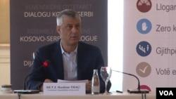 """Predsjednik Kosova Hašim Tači na okruglom stolu """"Šta znači korekcija granice između Kosova i Srbije"""""""