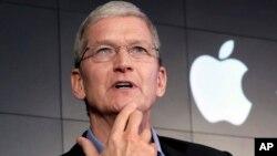 蘋果公司執行長庫克拒絕解鎖iPhone。
